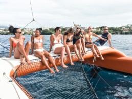 filles bateau catamaran martinique